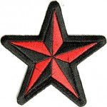 Red Bl35krack Star Patch | Embroidered Patches